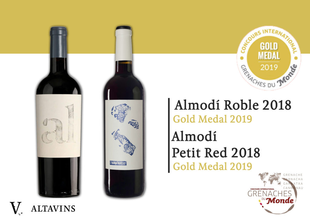 2019 The Year Of Gold Medals For Almodí Petit Red Altavins Viticultors Vins Do Terra Alta
